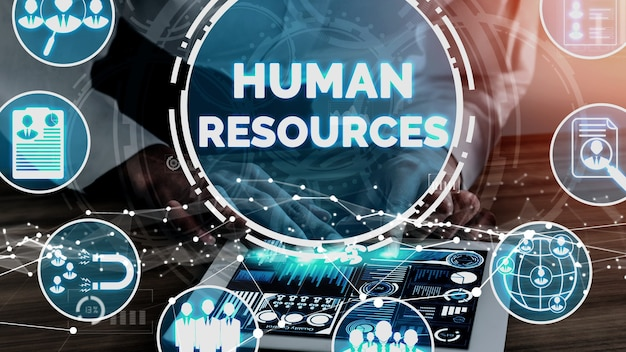 Human resources and people networking conceptual