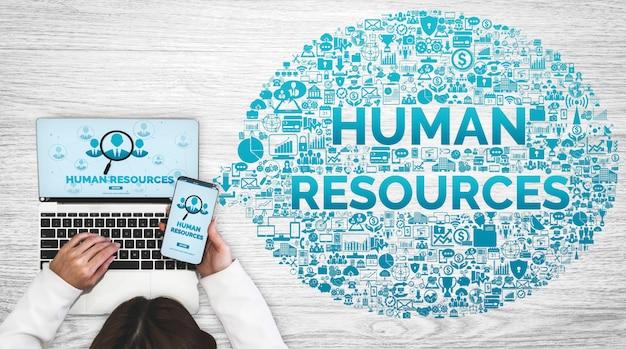 Набор человеческих ресурсов и концепция сети людей.