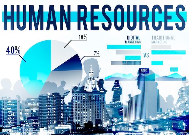Human resources recruitment career job hiring concept