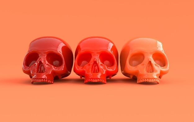 인간의 두개골 3d 렌더링