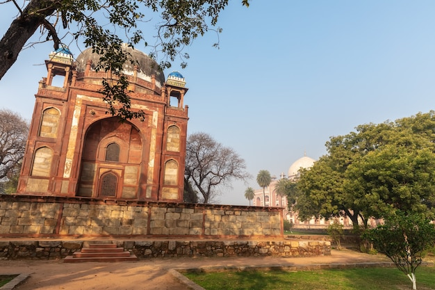 Humayun's tomb in india, view on the barber's tomb .