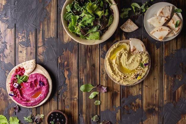 Hummus spread variety