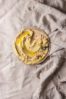 Hummus spread with nuts