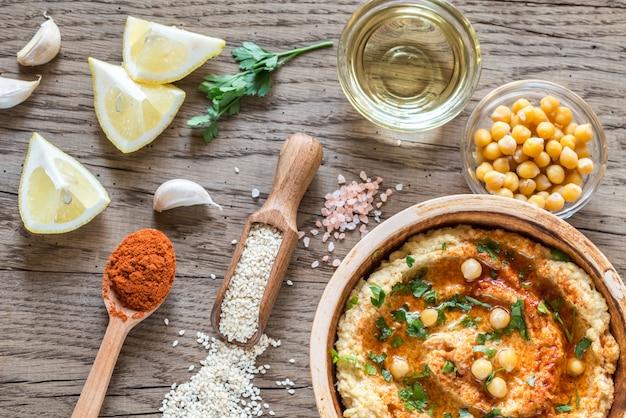 Хумус с ингредиентами