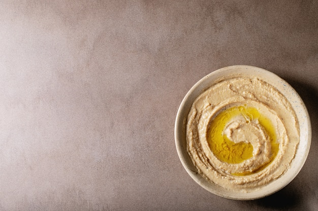 Hummus with olive oil
