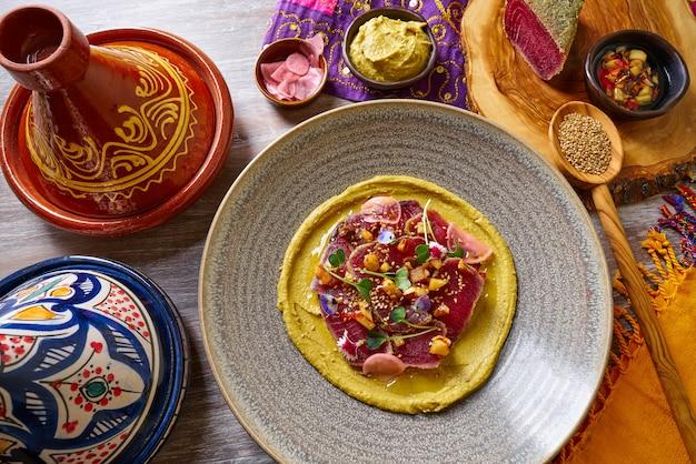 Humus with marinated tuna moroccan recipe