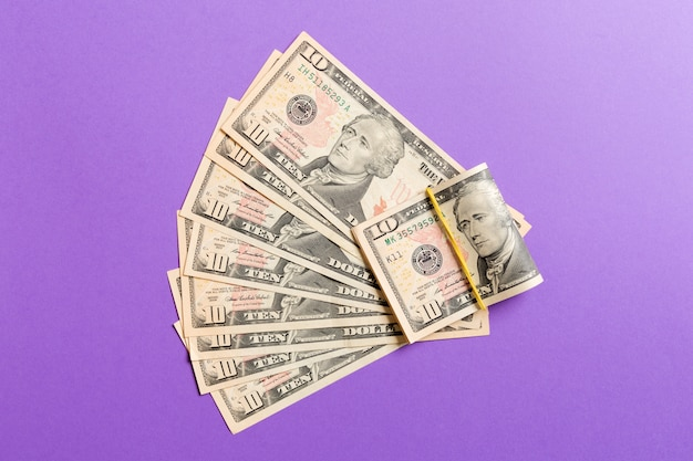 A hundred dollar fan close up