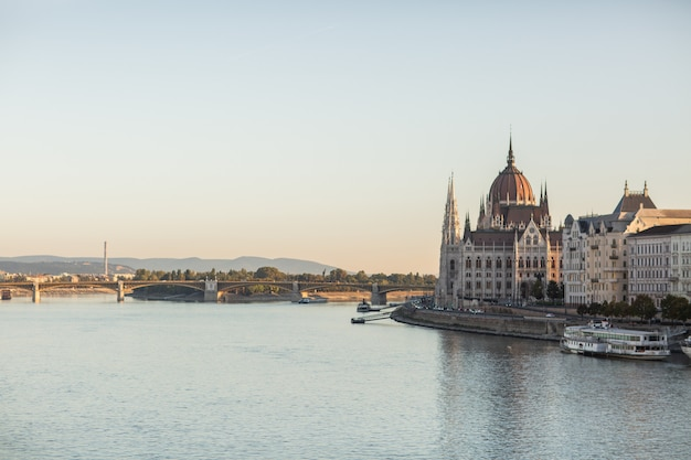 Hungarian parliament building in the city of budapest.