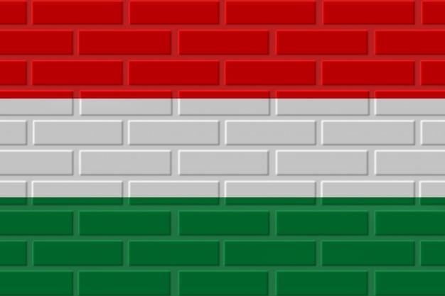 ハンガリーのレンガの旗のイラスト