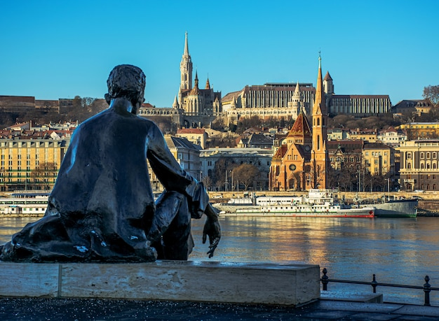 Hungary, budapest, beautiful architecture, fishing bastion on the banks of the danube