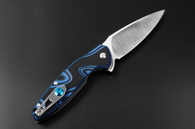 Hunting knife isolated on black
