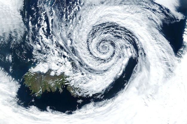 Hurricane from space the atmospheric cyclone elements of this image furnished by nasa