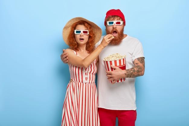 Муж и жена глубоко впечатлены фильмом ужасов