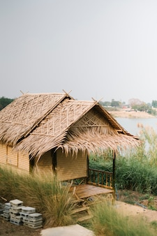 Hut for farmer in thai style