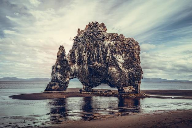 Hvitserkur - the unique basalt rock in iceland.