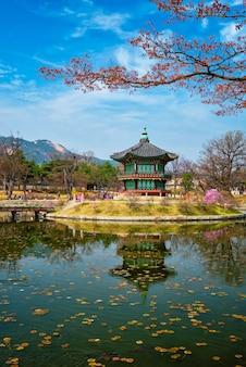 Hyangwonjeong pavilion, gyeongbokgung palace, seoul, south korea