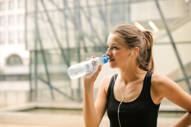 Hydrating after fitness