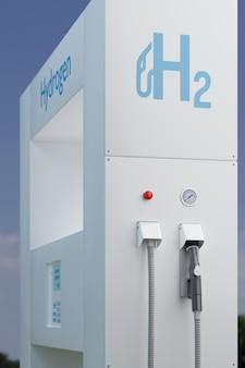 수소 주유소 연료 디스펜서.