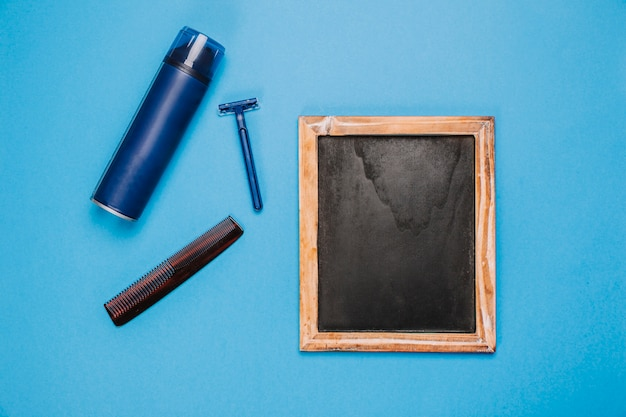 Hygiene composition with slate