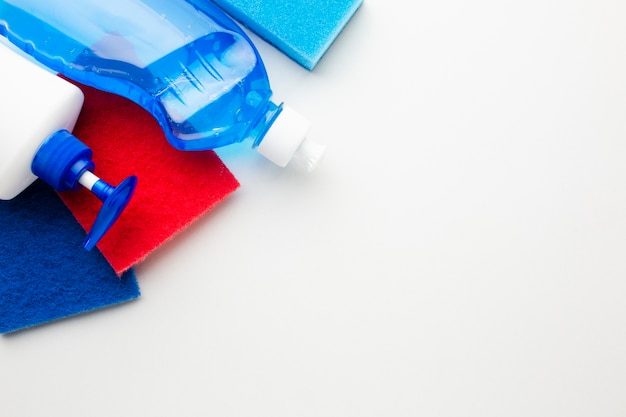 Hygiene products in close up