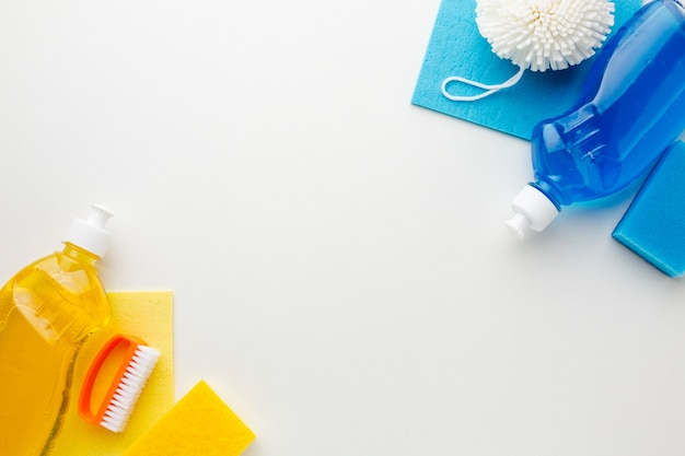 Hygiene products with copy space