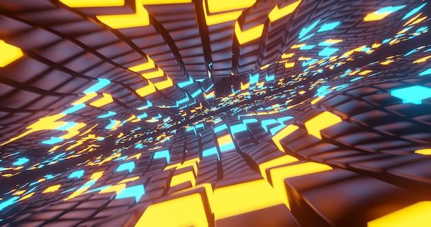 Hyper loop technology background., 3d rendering.