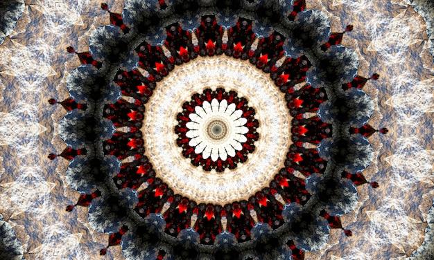 Гипнотический узор для психотерапии, черно-белый многоугольник звезды монохроматический фон.