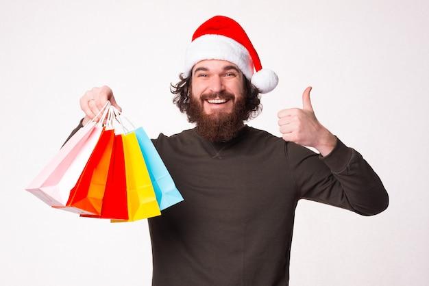 今日のクリスマスの買い物に満足しています。