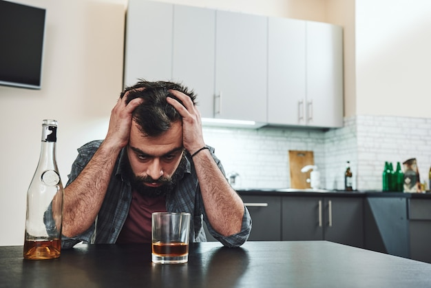 I became a very angry person and it was all due to alcoholism drunk man