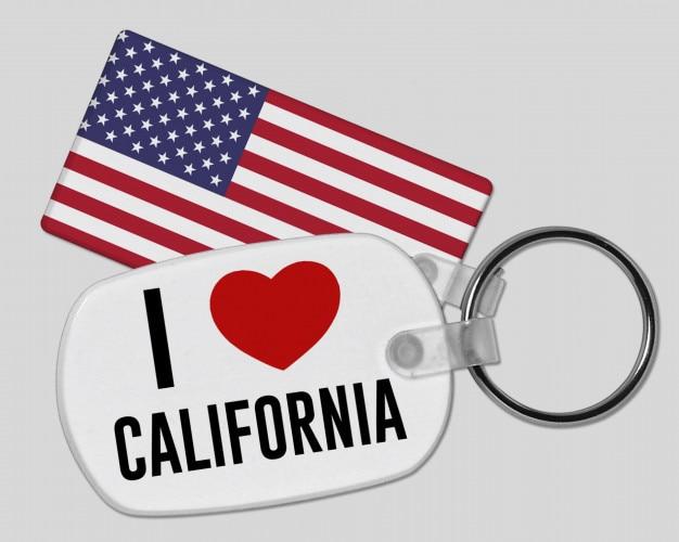 I love california keyring - vacation and holiday