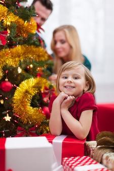 私はクリスマスの時期が大好きです!