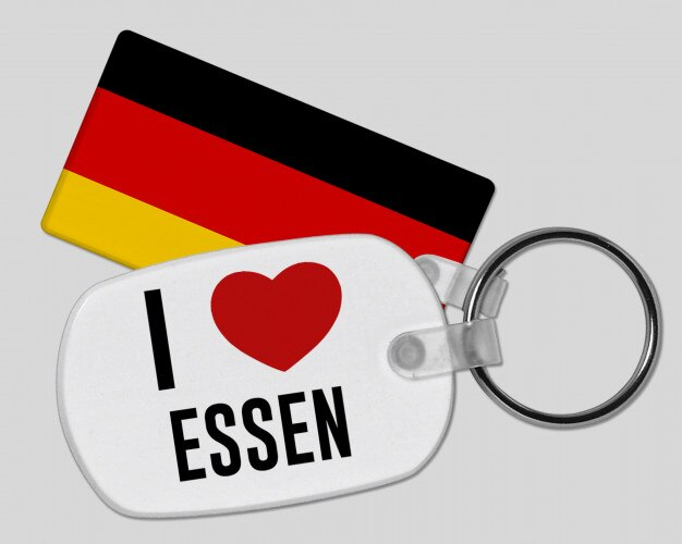 I love essen keyring - vacation and holiday