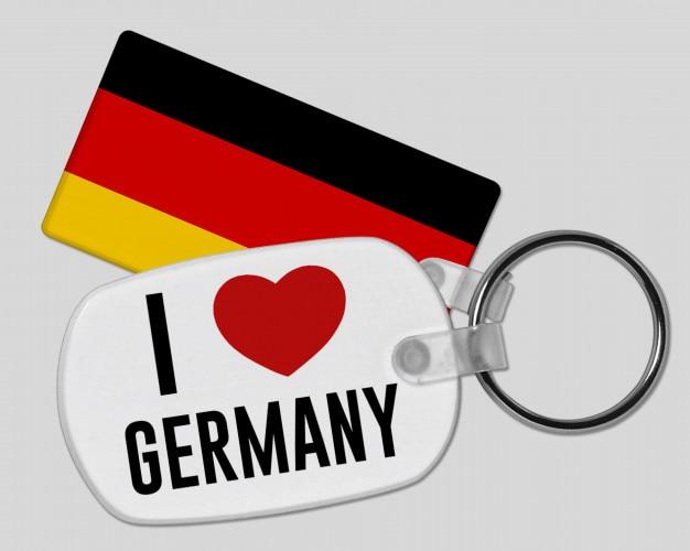 I love germany keyring - vacation and holiday