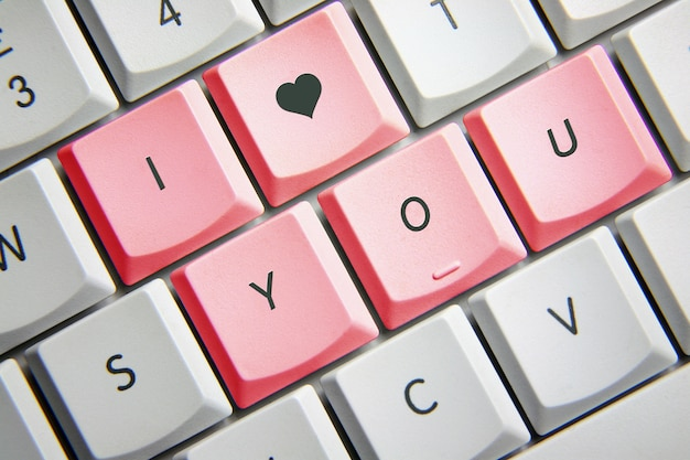 I love you in keyboard