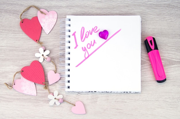 I love you. valentine's day. mother's day. space for text.