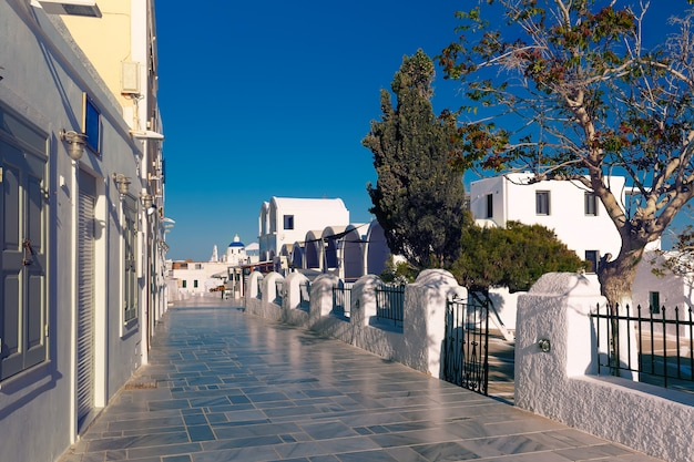 ギリシャ、サントリーニ島のパノラマイアまたはia