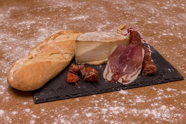 Iberian ham, chorizo, cheese, sausage from spain
