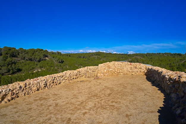 Iberians ruins in vallesa of paterna of spain from before christ called lloma de betxi