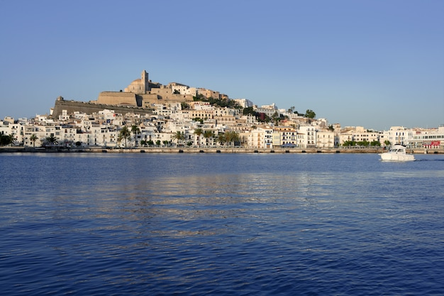 Ibiza balearic mediterranean white island in spain