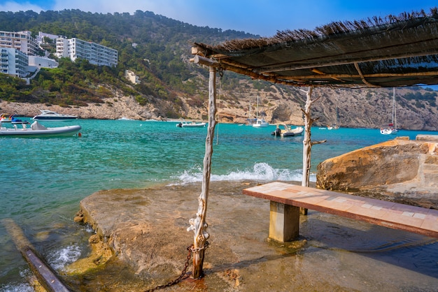 Ibiza cala llonga beach in santa eulalia
