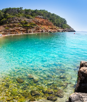 Ibiza cala salada and saladeta in balearics