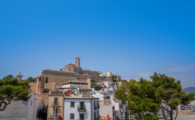 Ibiza eivissa church in dalt vila of balearics