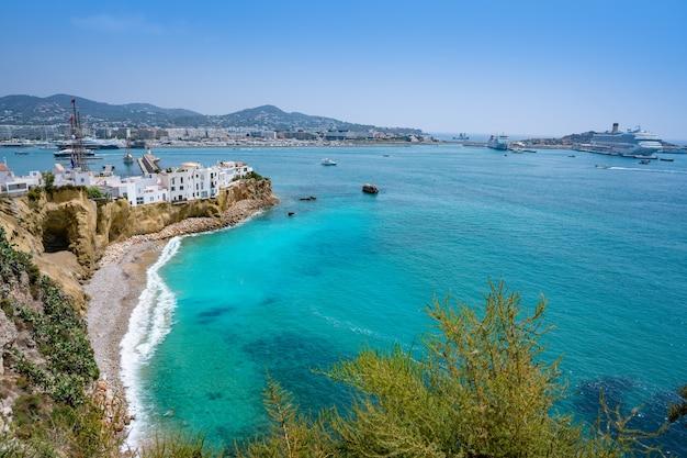 Ibiza eivissa skyline from dalt vila in balearics