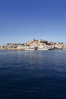 Ibiza island harbor in mediterranean sea