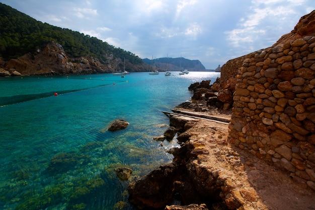 Ibiza port de benirras at balearic islands