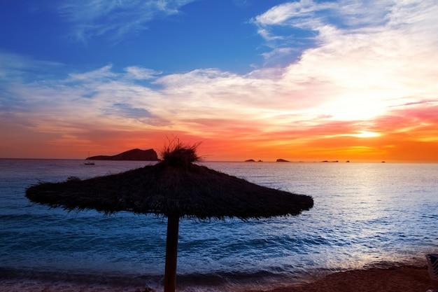 Ibiza sunset in cala conta conmte