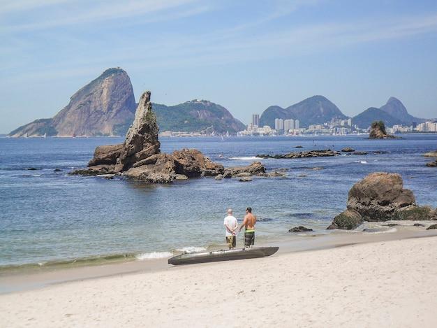 Icarai beach in niteroi in rio de janeiro brazil