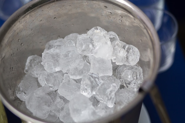 Ice on the buffet table summer for drinks