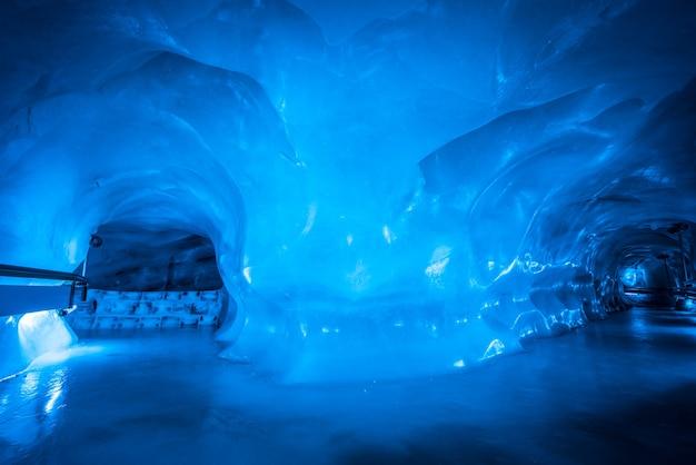 Ice cave in switzerland