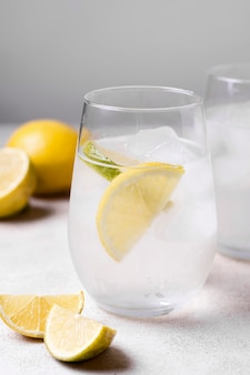 Ice cold lemonade ready to be served